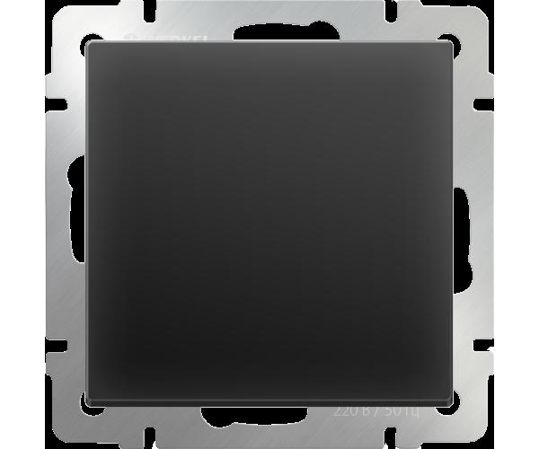 Выключатель одноклавишный (черный) WL08-SW-1G