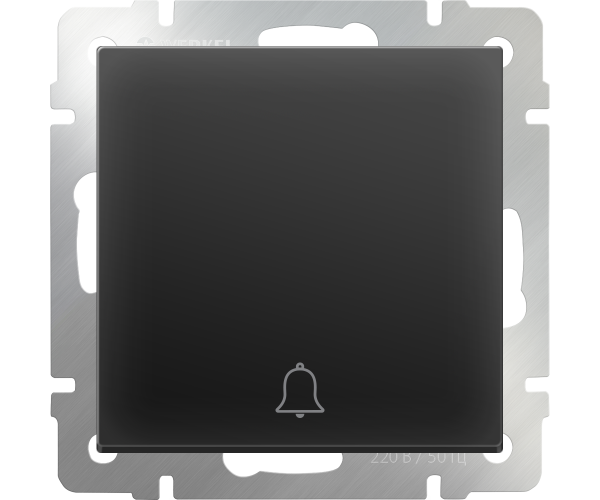 Кнопка звонка (черный матовый)  WL08-04-01