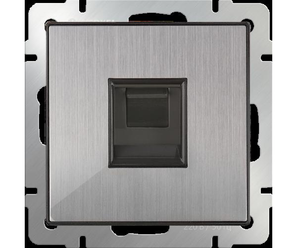 Розетка Ethernet RJ-45 (глянцевый никель) WL02-RJ-45