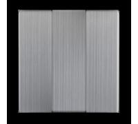 Набор клавиш для выключателя трехклавишного (глянцевый никель) WL02-SW-3G-CP