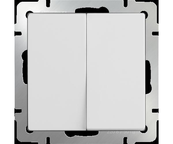 Выключатель двухклавишный (белый) WL01-SW-2G
