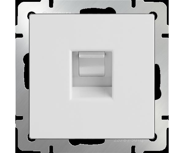 Розетка Ethernet RJ-45 (белая) WL01-RJ-45
