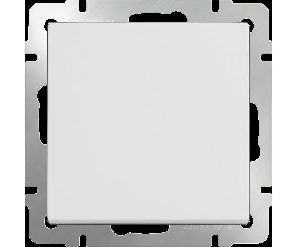 Выключатель одноклавишный (белый)WL01-SW-1G