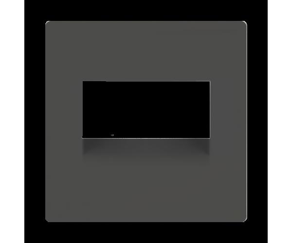 Накладка для двойной розетки Еthernet RJ-45 (серо-коричневый) WL07-RJ45+RJ45-CP