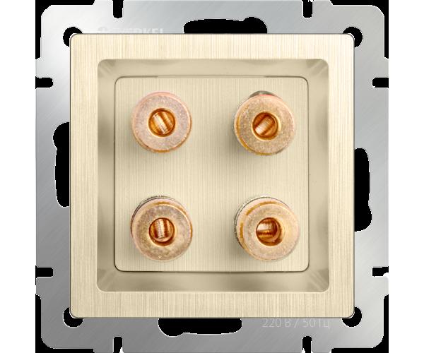 Акустическая розетка (шампань рифленый) WL10-AUDIOx4