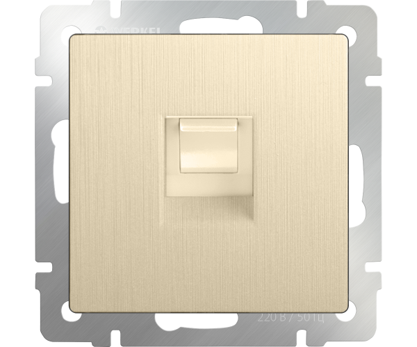 Розетка Ethernet RJ-45 (шампань рифленый) WL10-RJ-45