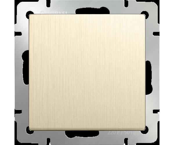 Выключатель одноклавишный (шампань рифленый) WL10-SW-1G