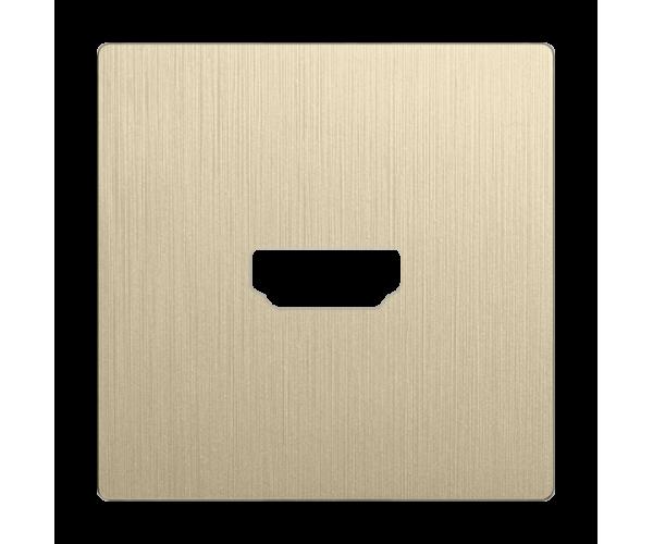 Накладка для розетки HDMI (шампань рифленый) WL10-HDMI-CP