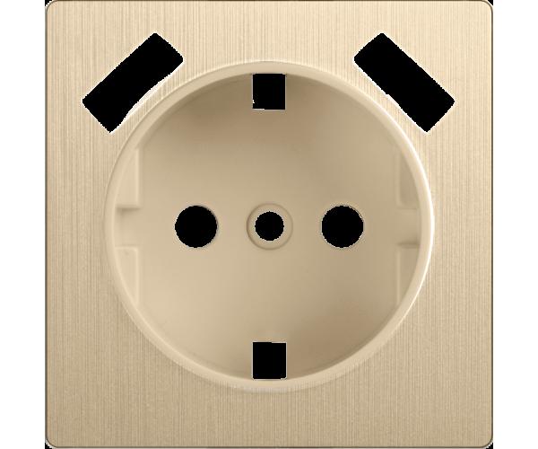 Накладка для розетки USB (шампань рифленый) WL10-USB-CP