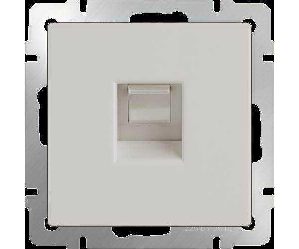 Розетка Ethernet (слоновая кость) RJ-45 WL03-RJ-45-ivory