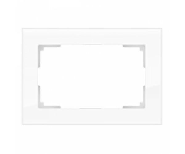 Рамка для двойной розетки WL01-Frame-01-DBL Белый