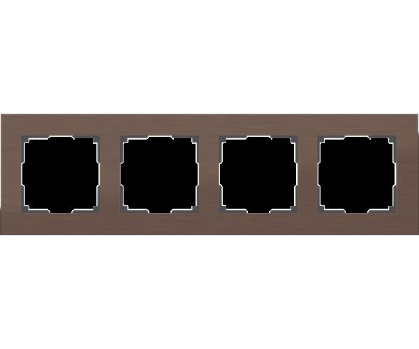 Рамка на 4 поста WL11-Frame-04 Коричневый алюминий