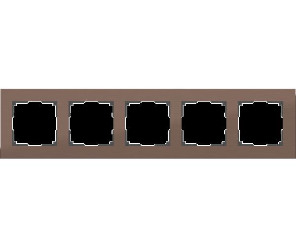 Рамка на 5 постов WL11-Frame-05 Коричневый алюминий