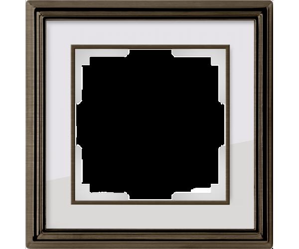 Рамка на 1 пост (бронза/белый) WL17-Frame-01