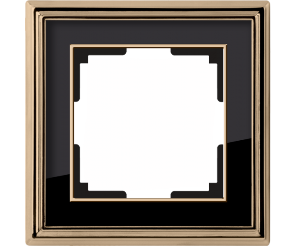 Рамка на 1 пост (золото/черный) WL17-Frame-01