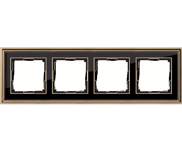 Рамка на 4 поста (золото/черный) WL17-Frame-04
