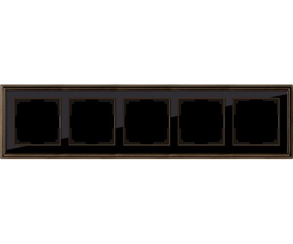 Рамка на 5 постов (бронза/черный) WL17-Frame-05