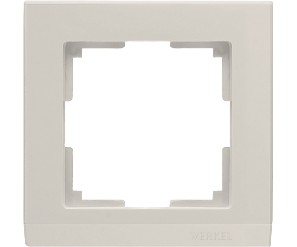 Рамка на 1 пост слоновая кость WL04-Frame-01-ivory