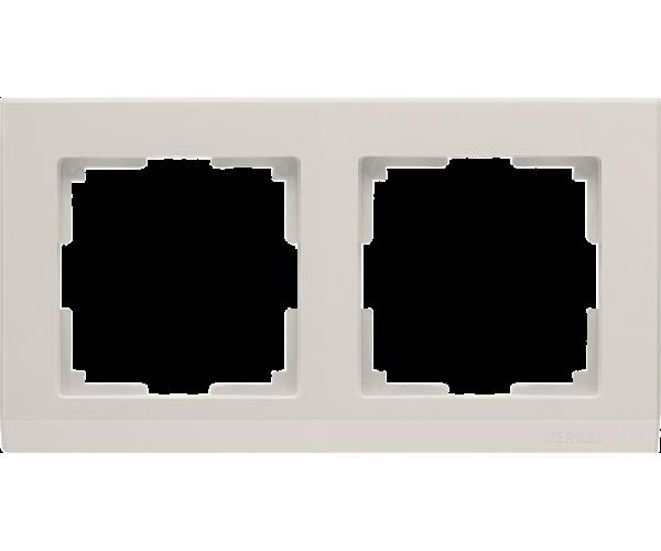 Рамка на 2 поста слоновая кость WL04-Frame-02-ivory