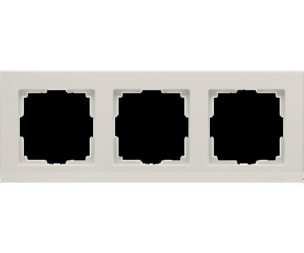 Рамка на 3 поста слоновая кость WL04-Frame-03-ivory