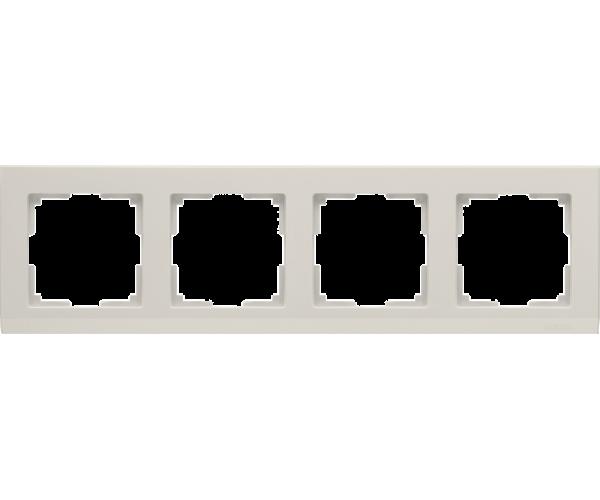 Рамка на 4 поста слоновая кость WL04-Frame-04-ivory