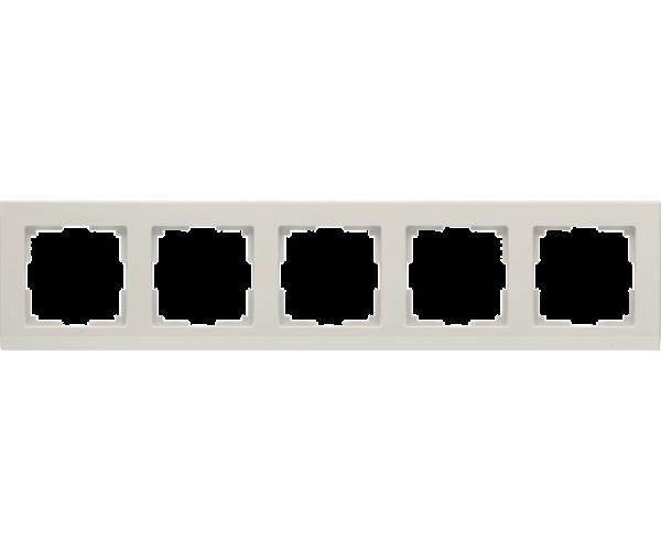 Рамка на 5 постов слоновая кость WL04-Frame-05-ivory
