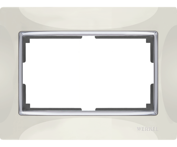 Рамка для двойной розетки WL03-Frame-01-DBL-ivory