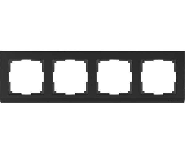 Рамка на 4 поста WL04-Frame-04 Черный