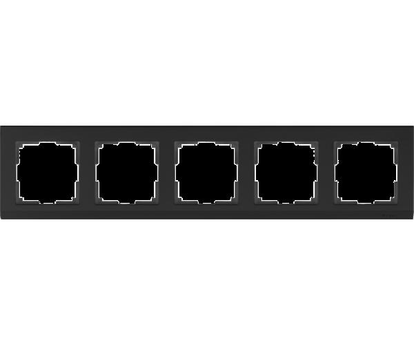 Рамка на 5 постов WL04-Frame-05 Черный