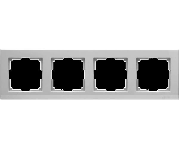 Рамка на 4 поста WL04-Frame-04 Серебряный