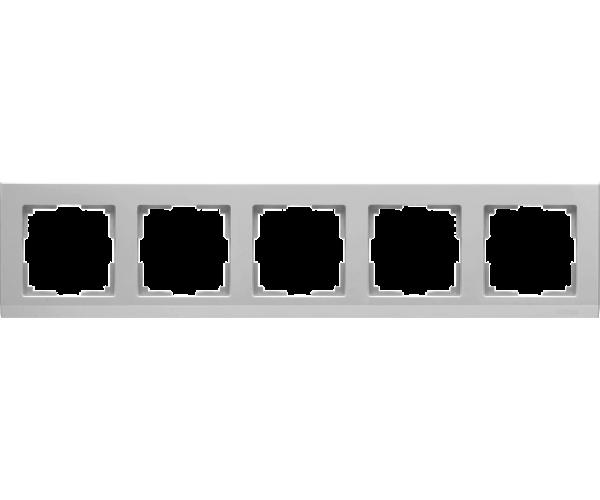 Рамка на 5 постов WL04-Frame-05 Серебряный