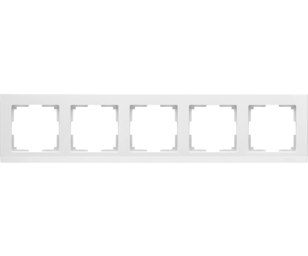 Рамка на 5 постов WL04-Frame-05 Белый