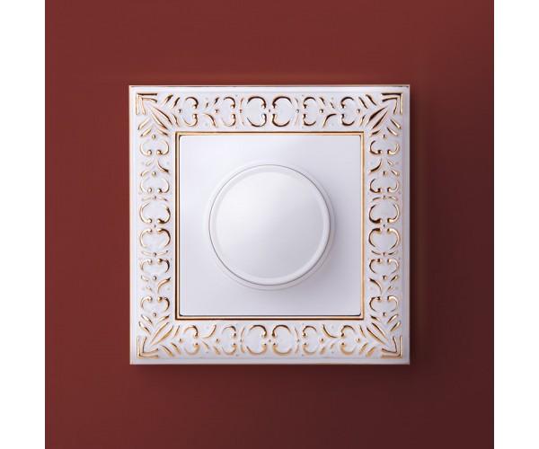 Рамка на 1 пост (белое золото) WL07-Frame-01