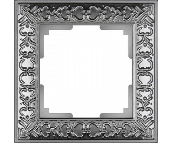 Рамка на 1 пост (матовый хром) WL07-Frame-01