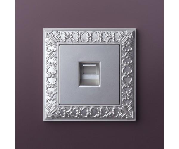 Рамка на 1 пост (жемчужный) WL07-Frame-01