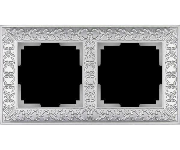 Рамка на 2 поста (жемчужный) WL07-Frame-02