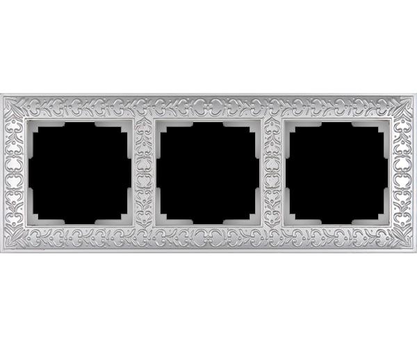 Рамка на 3 поста (жемчужный) WL07-Frame-03