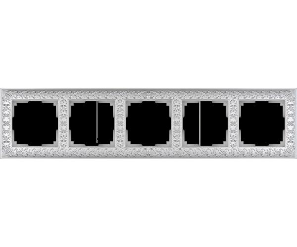 Рамка на 5 постов (жемчужный) WL07-Frame-05