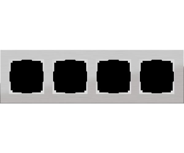 Рамка на 4 поста WL11-Frame-04 Алюминий