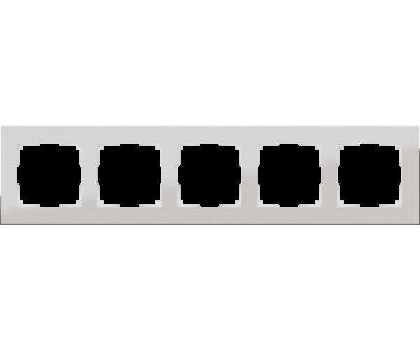 Рамка на 5 постов (алюминий) WL11-Frame-05